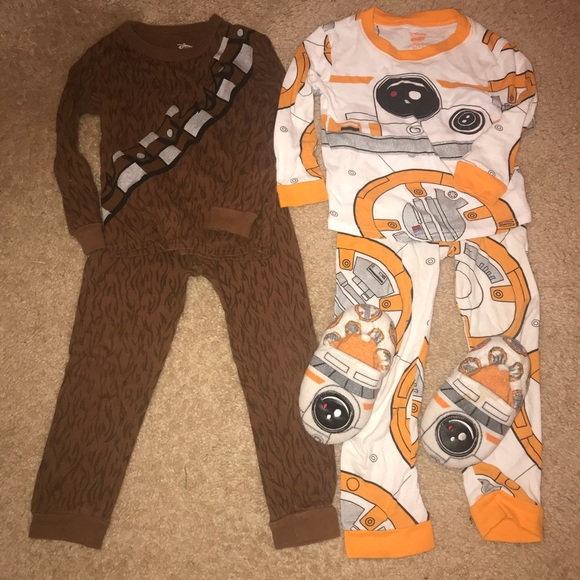 Disney Other - Star Wars pajamas and slippers 4T